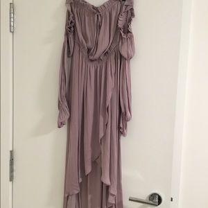 Lavender silk flowing Dress